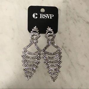 RSVP Silver Sparkle Dangle Earrings